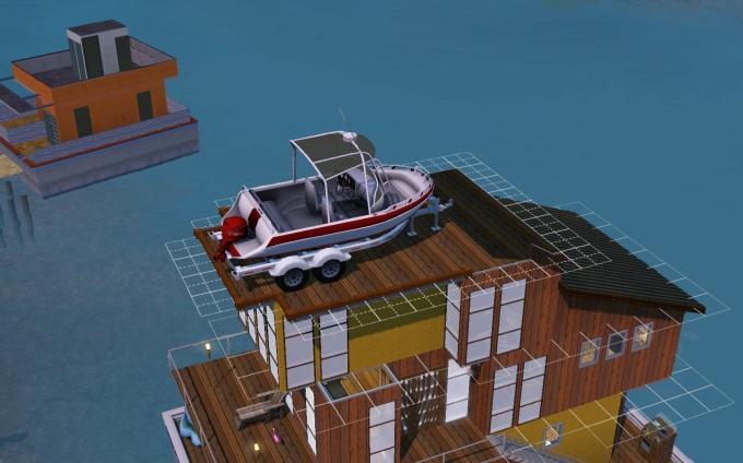 Boat on houseboat